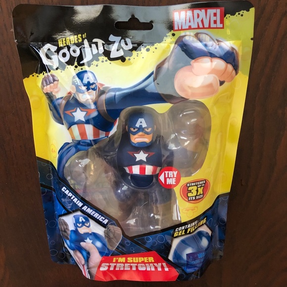 MARVEL HEROES OF GOO JIT ZU CAPTAIN AMERICA FIGURE SUPER STRETCHY NEW